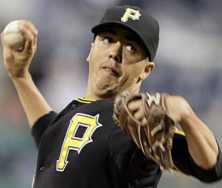 Jeff Karstens, making his first start since June 5, is one of five pitchers the Pirates use to earn the win. (AP)