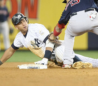 Alex Rodriguez serves up power with a homer, but he also ties a career high with three steals. (Getty Images)