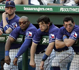 Needing every win they can get, the Rangers can ill afford collapses like this one vs. the Rays.  (AP)