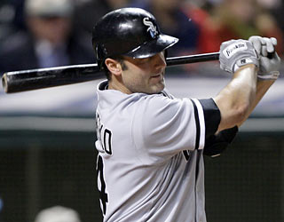 Paul Konerko's RBI single gives the White Sox all the offense they need to beat the Indians.  (AP)
