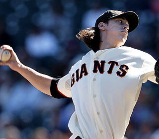 Tim Lincecum, the reigning NL Cy Young winner, K's seven over seven innings in his last start of the season. (AP)