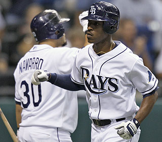 It's been a disappointing season for B.J. Upton, but he becomes the first Rays player to hit for the cycle.  (AP)
