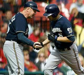 Ryan Braun reaches the 200-hit plateau for the first time in his young career with this home run.  (AP)