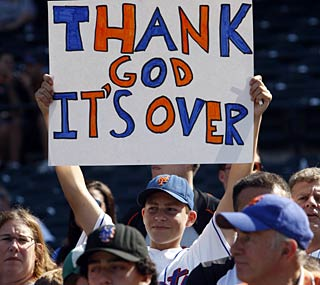 Mets fans aren't too sad to see this season, which started with big expectations, come to an end.  (AP)