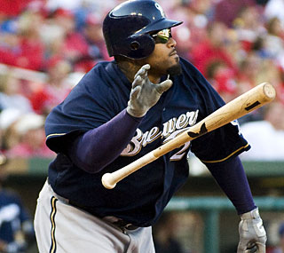 Prince Fielder ends his season in style, blasting two home runs as the Brewers complete the sweep.  (AP)