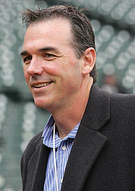 Billy Beane's 'Moneyball' philosophy hasn't paid dividends in the playoffs. (Getty Images)