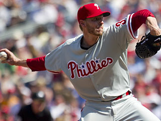 Roy Halladay quickly delivers an ace-type performance for his new team.  (Getty Images)
