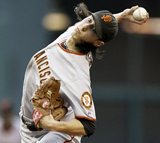 Tim Lincecum's campaign for a third straight Cy Young  gets off to a great start in Houston.  (US Presswire)