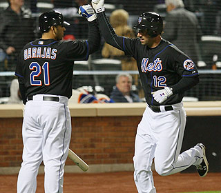 Rod Barajas and Jeff Francoeur are the first Mets to HR twice at Citi Field in the same game. (Getty Images)