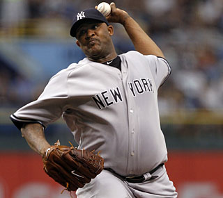 CC Sabathia is still looking for his first no-hitter after the Rays deny him in the eighth inning.  (AP)