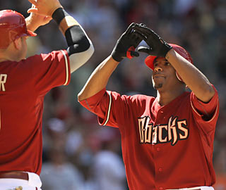 Pitcher Edwin Jackson caps a 13-run fourth with his first career home run, a two-run knock.  (Getty Images)