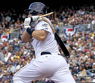 The Padres pound the ball so much against the Braves that the bats can't take it anymore. (Getty Images)