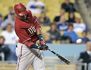 Chris Young keeps his eye on the ball and delivers the game-winning hit late in the evening.  (AP)