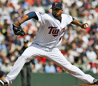 Francisco Liriano K's 8 over seven innings as the Twins take the first series played at Target Field. (AP)