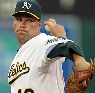 Ben Sheets looks like the Sheets of old, going six scoreless innings for the A's. (AP)