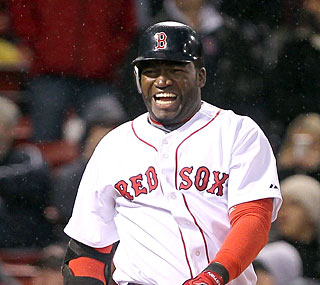 David Ortiz's face says it all as the Red Sox drop two games in one night to the streaking Rays.  (Getty Images)
