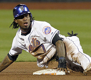 Jose Reyes makes the most of his return to the starting lineup with four hits and a stolen base. (US Presswire)