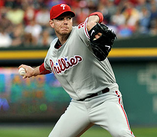 With the five-hitter, Roy Halladay improves to 4-0 with a 0.82 ERA this season. (AP)