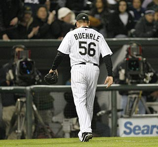 This is quite a contrast from Mark Buehrle's previous start against Tampa Bay on Chicago's South Side.  (AP)