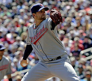 Mitch Talbot, who had a complete-game victory last weekend, keeps the Twins scoreless over six innings. (AP)