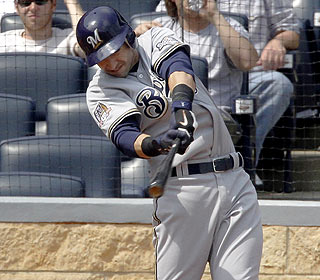 Ryan Braun drives in five as Milwaukee sets a record for its biggest shutout win. (AP)