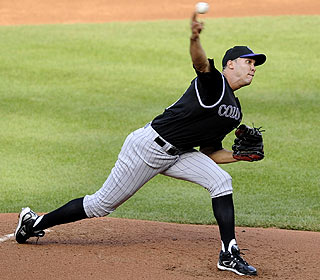 Ubaldo Jimenez fires 7 1/3 innings scoreless innings after pitching the first no-hitter in Rockies history. (AP)