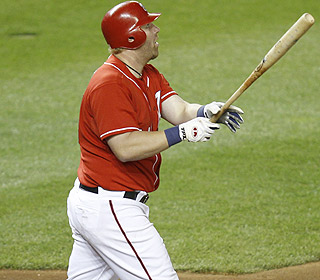 That one isn't coming back. Adam Dunn torches the Dodgers for his second and third homers. (AP)