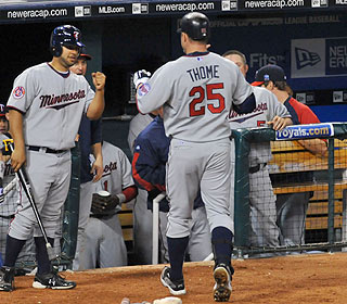 The Twins hadn't had a winning record in April since 2007. Jim Thome helps change that. (US Presswire)