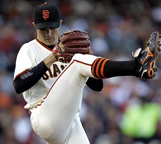 A resurgent Barry Zito is 3-0 after a dominant, 10-strikeout performance against the Cardinals.  (AP)