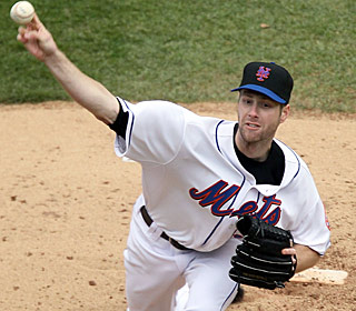 Winning pitcher John Maine fans nine over six innings as the Mets wrap up their 9-1 homestand.  (Getty Images)