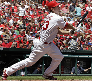 David Freese has the biggest day by a Cards rookie since at least 1957, when rookie qualifications began.  (AP)