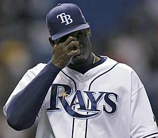 Rays closer Rafael Soriano knows that they let a game get away after giving up two runs in the ninth. (AP)