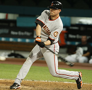 Aubrey Huff, who smacks the game-winning single in the 12th inning, finishes 2 for 5 with two RBI.  (AP)