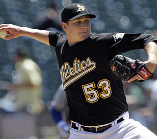 Oakland's Trevor Cahill wins in his second start since being called up from the minors.  (AP)