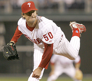 Jamie Moyer is the oldest pitcher in history to throw a shutout. He strikes out five in the win. (AP)