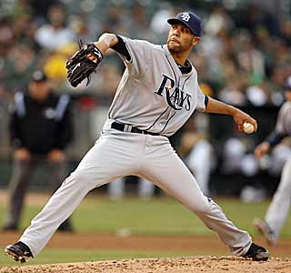 David Price silences the Athletics' bats, helping the Rays improve to 13-1 on the road. (AP)