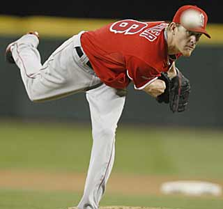 Jared Weaver's no-hit bid helps the Angels end their seven-game losing streak. (AP)