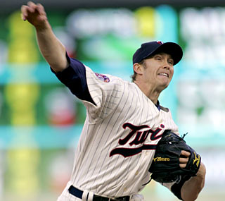 The Twins' Scott Baker has his best start of the season, going eight strong innings against the Orioles.  (AP)
