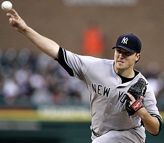 At 23, Phil Hughes is the youngest Yankees starting pitcher to win his first five decisions since 1950. (AP)