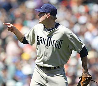 The only blemish on the day for the Padres' Mat Latos was a base hit in the sixth inning. (Getty Images)