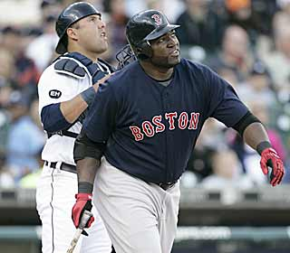 Despite a tough start to the season, Big Papi hasn't forget his strut when he gets a hold of one. (AP)