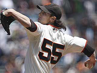 Tim Lincecum improves his record to 5-0 by dominating the Astros over eight strong innings. (AP)