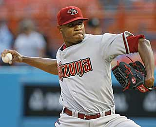 Despite coming in with a 7.43 ERA, Edwin Jackson has no problem mowing down the Marlins. (AP)