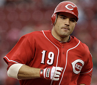 Joey Votto drives in the winning run to give the Reds their 10th victory in their final at-bat this year. (AP)