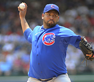 Carlos Silva allows three runs in 5 1/3 innings to become the first Cub in 43 years to go 6-0.  (AP)