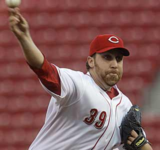 Aaron Harang does it all. In addition to tossing 6 1/3 innings, Harang scores and drives in a run. (AP)