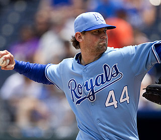 Luke Hochevar, the only Royals starter with a winning record, pitches eight innings of six-hit ball. (AP)