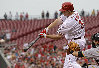 Jay Bruce rips his first home run for Cincinnati since April 29. (AP)