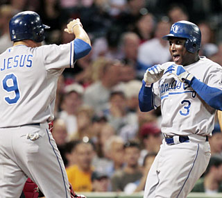 The Royals can certainly hit and Yuniesky Betancourt proves it with a grand slam.  (AP)