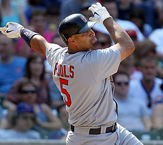 Albert Pujols belts three home runs for the fourth time in his career and the first since 2006.  (Getty Images)